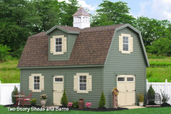 Two Story Amish Built Sheds
