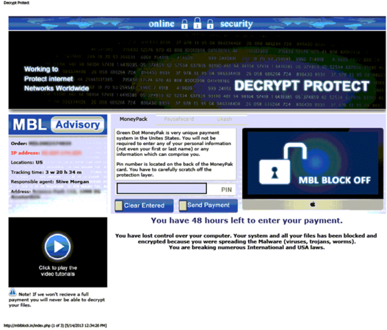 Decrypt Protect Ransomware is scareware that frightens computer users into paying to unlock their computers.