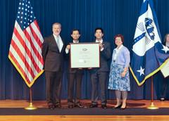 Synder Filtration representatives receiving their award in Washington DC!