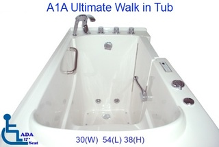 Comfort Walk in Tubs Direct Response to Fill and Drain Time Complaints with New A1A Ultimate Walk in Tub