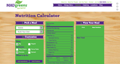 Mad Greens has launched a revised calorie counter.