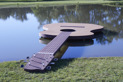 Guitar Deck with MoistureShield composite decking