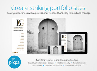 Pixpa.com Launches HTML5 Portfolio Websites for Photographers