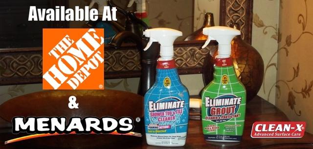 Unelko's Eliminate® Shower, Tub & Tile Cleaner and Eliminate® Grout Cleaner & Sealer