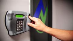 Biometric lock at Netrepid Data Center
