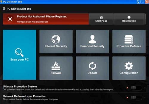 PC Defender 360 will use fake system scans to lure PC users into purchasing its bogus full version.