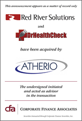 CFA Announces Acquisition of Red River Solutions by Atherio