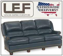 Lenoir Empire Furniture Sale: Hancock and Moore Austin High Back Sofa