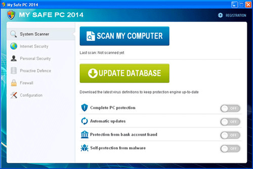 Ignore fake warning messages from My Safe PC 2014. My Safe PC 2014 is a fake antispyware program.