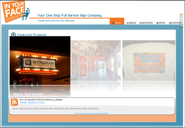 InYourFaceSigns&Tees Flash Website