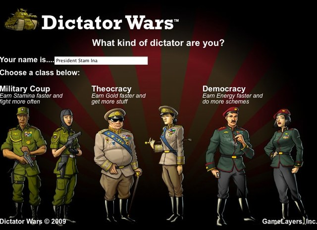 What Kind of Dictator Are You? From Dictator Wars on Facebook.