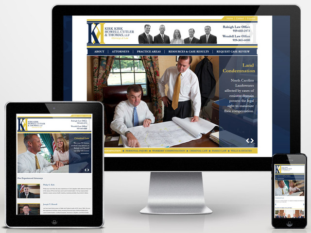 Raleigh Law Firm's New Responsive Design Website