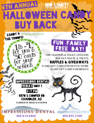 Impressions Dental Announces 6th Annual Halloween Candy Buy-back Event