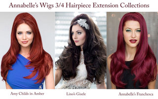 Annabelle's Wigs Showcasing Three Lines of Revolutionary Half Wig Extensions.