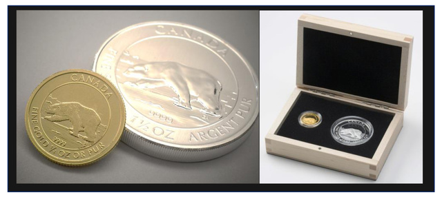 Polar Bear Gold and Silver Proof Set