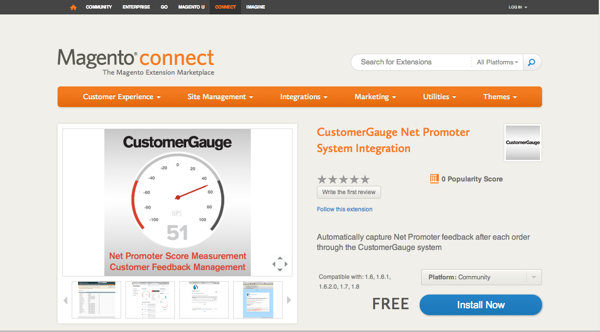 The CustomerGauge Magento extension is now available.