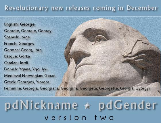 pdNickname 2.0 and pdGender 2.0 will be released before the end of 2013.