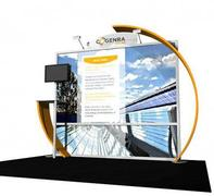 Here is a great 10x10 green trade show booth