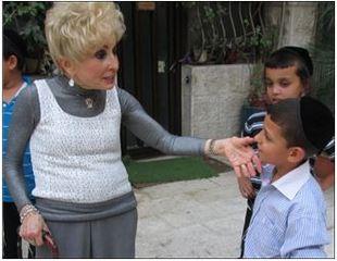 Internationally Renowned Rebbetzin Visits the Zion Orphanage