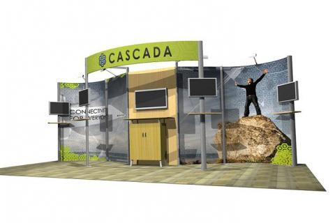 Eco Systems 20' display from Trade Show Emporium. Customizable and modular.