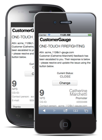 Workflow on the Go: One-Touch Firefighting with CustomerGauge