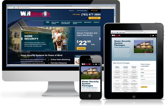Responsive web design of www.wh-security.com