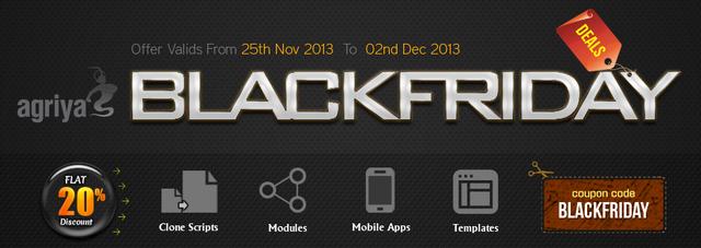 Agriya Black Friday Deal 2013 - Flat 20% Discount