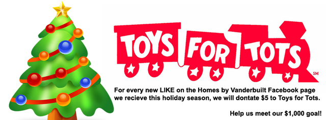 Homes by Vanderbuilt Supporting Toys for Tots