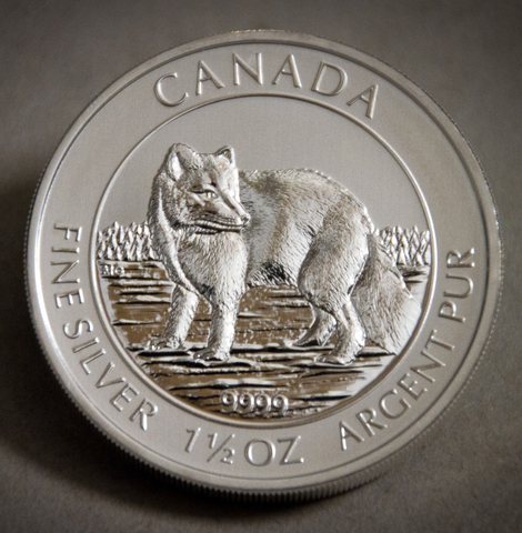 The 1.5 ounce Silver Arctic Fox Coin