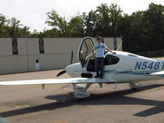Alex prepares for a lesson with Performance Flight