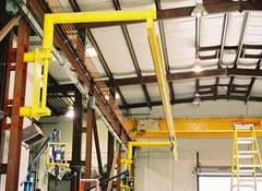 Fall Protection System in extended position when fall protection is required