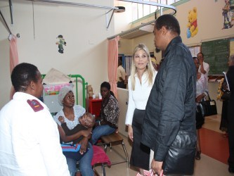 MEC Hope Papo interacts with patients and staff at hospital's Burns Unit.