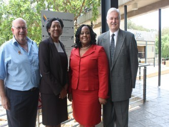 From left to right: Mr Toby Sutcliffe, Her Excellency Mrs Norma Taylor-Roberts, the Honourable Ms Neita Headly and Prof Antonie de Klerk.