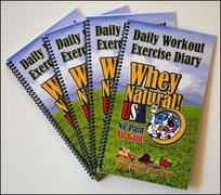Daily Workout Exercise Diary 42 Pages, Laminated Cover