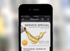 Attractive Service Special with ability to take action.