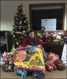 Eileen and the Handmade Blankets at Safe Babies Healthy Families