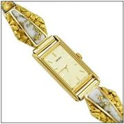 Lady's Gold in Quartz & Natural Gold Nugget Seiko Watch