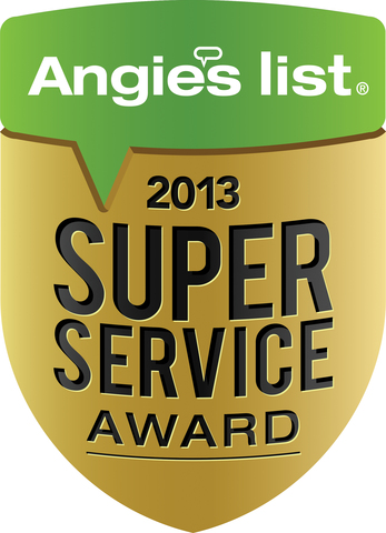 The Angie's List 2013 Super Service Award.