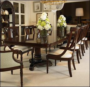 Double Pedestal Dining Table<br /> Wellington Court Collection<br /> by Century Furniture<br />