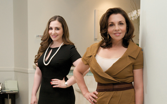 Dr. Janelle Vega (Left), Dr. Flor Mayoral (Right) of Mayoral Dermatology in Coral Gables, FL.
