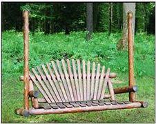 White Cedar Stained Love Seat Swing