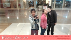 Mall-goers get a free kiss from Augmented Reality groom