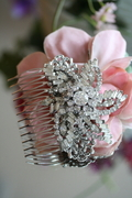 Vintage, one of a kind, Rhinestone Hair Comb