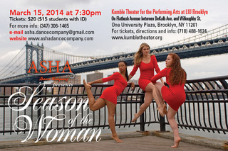 ASHA Dance Company presents Season Of the Woman