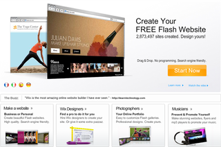 Wix Flash Website Builder Gains Deep Linking Capabilities