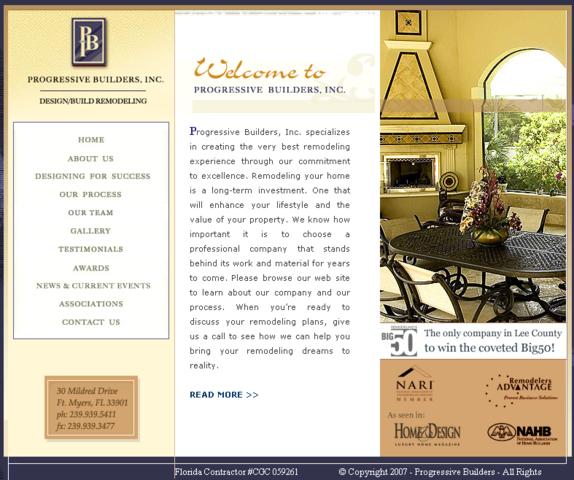 Progressive Builders, Inc. Website