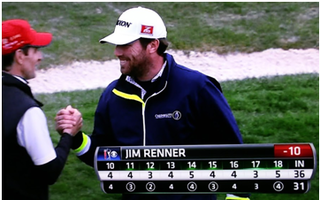 Jim Renner, Sponsored by Credibility International, Finishes Second at AT&T Pebble Beach National Pro-Am