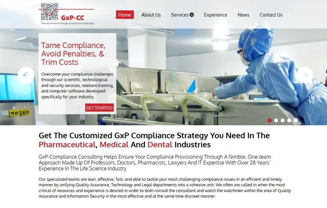GxP-CC provides customized compliance strategies for the pharmaceutical, medical and dental industries.