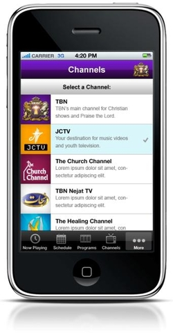 The mobile application allows network viewers to access live broadcasts directly from their iPhone