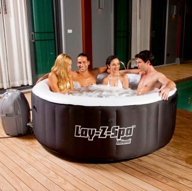 The new Lay Z Spa Miami Inflatable Hot Tub
